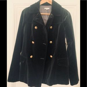 Vince Double Breasted Velvet Blazer Jacket, Size 6